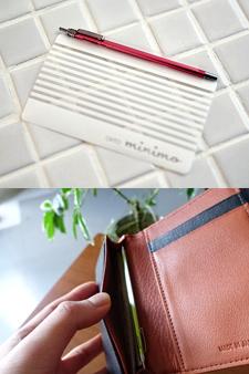made in japan 세계에서 가장얇은 카드형 볼펜 미니모 볼펜