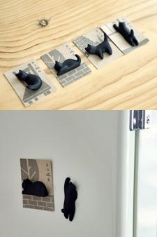 made in japan 귀여운 쿠로네코 마그네틱